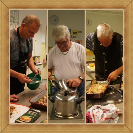 echte männer beim kochen